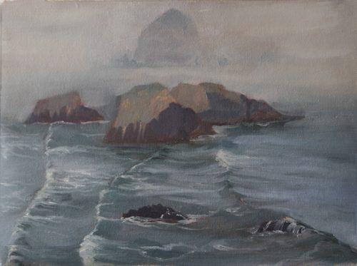 plein air, oil painting, oregon coast